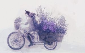 Bicycle-Flower-Delivery-Wallpaper