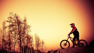 Bicycle-Winter-Sunset-Sport-Hd-Background