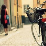 Bicycle-Woman-Street-Wallpaper-Hd