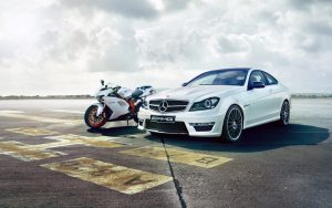 Motorcycle-Ducati-And-Mercedes-Benz-Wallpaper