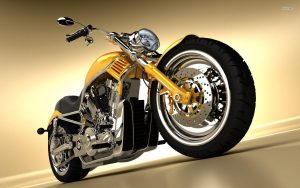 Motorcycle-Yellow-Harley-Wallpaper