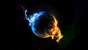 Space-Earth-Blue-And-Fire-Wallpaper