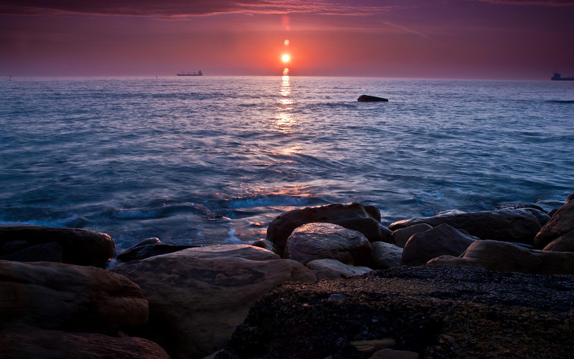 sunset beach nature sea - photo #26