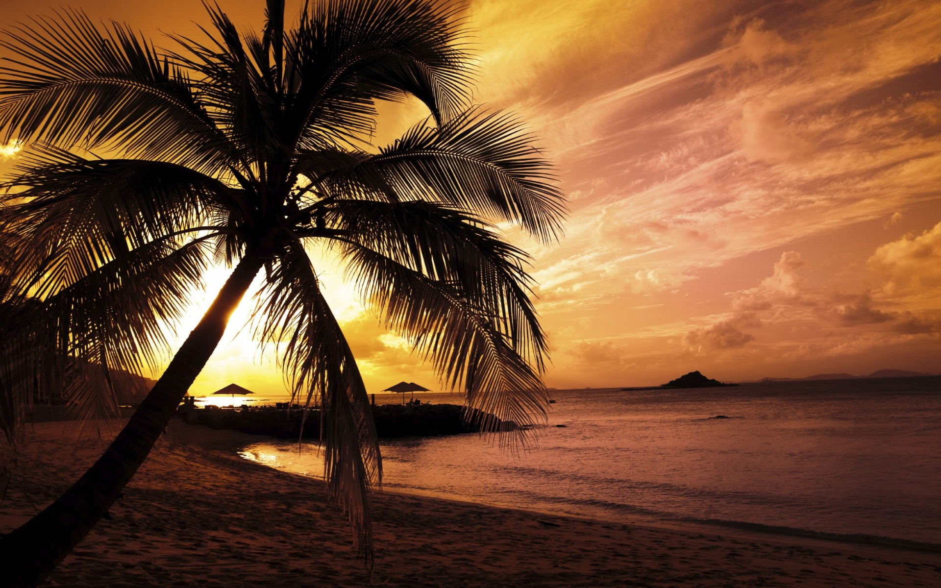 Background image beach -  Beach Sunset Background 13504