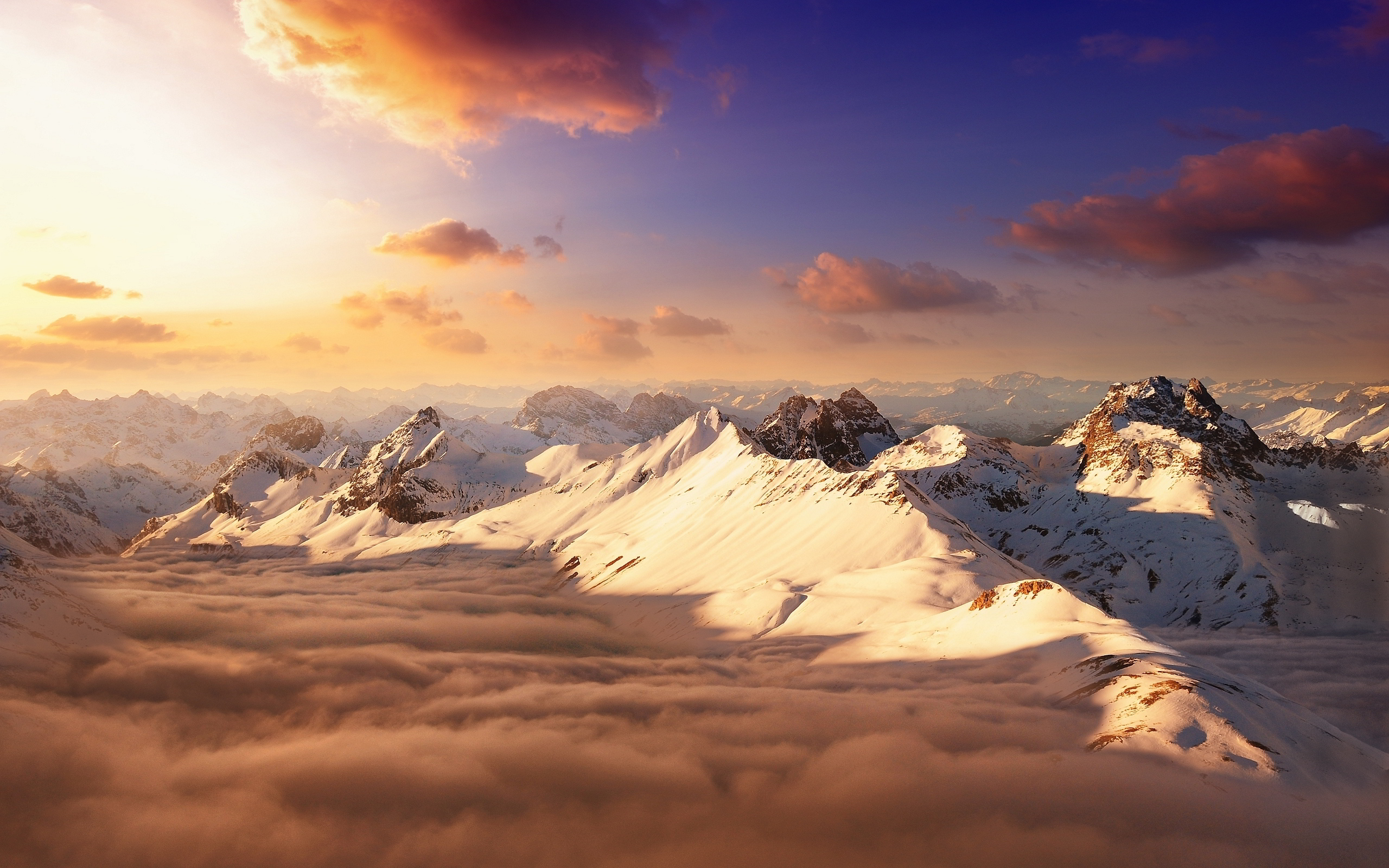 -mountain-sky-sunset-hd-wallpaper-10658 - Wall Paper