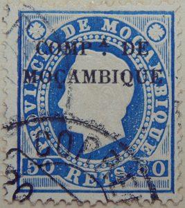 compa de mocambique black 50 reis 1892 blau blue bleu mozambique stamp provincia de mocambique