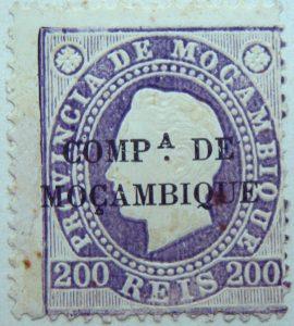 compa. de mocambique black 200 reis 1892 lila lilac violetmozambique stamp provincia de mocambique