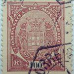 companhia de mocambique 100 rs reis 1894 braun gelb brown buff brun jaune mozambique stamp