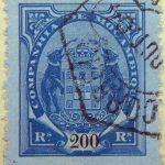 companhia de mocambique 200 rs reis 1894 blau hellblan blue pale bleu mozambique stamp