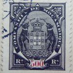 companhia de mocambique 500 res rs reis 1894 schwarz black noir mozambique stamp