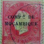 companhia de mocambique black 20 reis 1892 carmin karmin mozambique stamp provincia de mocambique