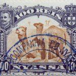 nyassa 100 reis correios portugal 1901 sapiabraun olive brown bistre camel stamp