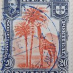nyassa 20 reis correios portugal 1901 orangerot orange red rouge giraffe stamp