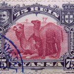 nyassa 75 reis correios portugal 1901 weinrot lake carmin camel stamp