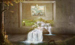 waterfall-1980x1200-gandalf-paint-artwork-hd-3461