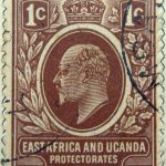 1 cent british east africa and uganda protectorates 1907 king eduard vii braun brown brun stamp