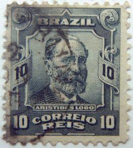 10 correio reis brazil aristides lobo used stamp