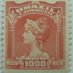 1000 correio reis brazil liberty head stamp 1906