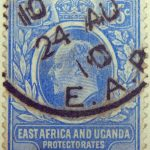15 cents british east africa and uganda protectorates 1907 king eduard vii ultramarin blue ciel stamp