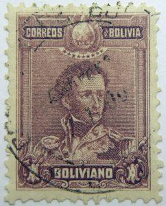 1899 1901 general sucre 1795 1830 correos de bolivia 1 boliviano purple
