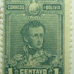 1899 1901 general sucre 1795 1830 correos de bolivia 1 centavo gree