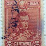1899 1901 general sucre 1795 1830 correos de bolivia 2 centavos vermilion