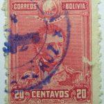1899 1901 general sucre 1795 1830 correos de bolivia 20 centavos rose