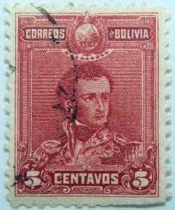1899 1901 general sucre 1795 1830 correos de bolivia 5 centavos red