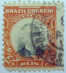 1906 president afonso pena, 1847 1909 brazil correio official 500 reis stamp