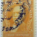 1913 frias yellow 8 correos de bolivia ocho centavos