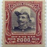 1913 president hermes da fonseca, 1855 1923 brazil correio official 2000 reis marechalhermes