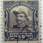 1913 president hermes da fonseca, 1855 1923 brazil correio official 50 reis marechalhermes