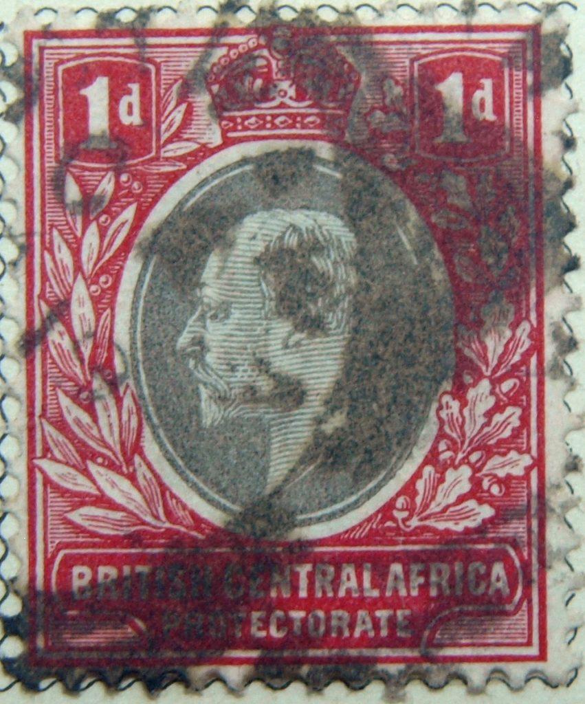 1d british central africa protectorate 1903 1907 king eduard vii