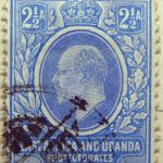 2 half annas british east africa and uganda protectorates 1903 1905 king eduard vii ultramarin blue ciel stamp