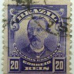 20 correio reis brazil benjamin constant used stamp