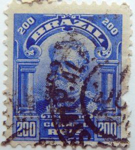 200 correio reis brazil manuel deodoro de fonseca utramarin stamp 1913 1917