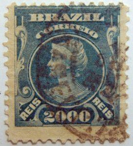 2000 correio reis brazil stamp 1913 1917 prus blue