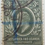 3 cents british east africa and uganda protectorates 1907 king eduard vii grun green vert stamp