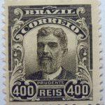 400 correio reis brazil prudente de moraes stamp 1906 dark