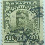 400 correio reis brazil prudente de moraes stamp 1906 olive green