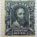 50 correio reis brazil pedro alvares cabral stamp 1906
