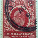 6 cents british east africa and uganda protectorates 1907 king eduard vii rot red rouge stamp
