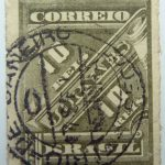 brazil newspaper stamp 1889 1890 correio 10 reis jornaes dark olive