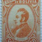 correos de bolivia 50 centavos orange sucre stamp