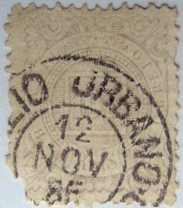 emperor dom pedro ii brazil correio 100 reis lila 1884 1888 old stamp