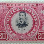 1902 the 400th anniversary of the founding of santo domingo city 1502 serie conmemorativa republica dominicana mella veinte centavos 20 carmine black stamp