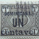 1906 postage due stamps overprinted republica dominicana. un centavo 1 10 browish olive color
