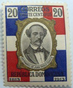 1914 the 100th anniversary of the birth of juan pablo duartes y diez 20 correos veinte centavos 1813 1913 republica dominicana multicolor stamp