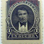 black un sucre 1 correos del ecuador corresdelecuador stamp