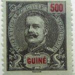 portuguese guinea 1898 1901 king carlos i stamp red black 500 guine reis correios portugal